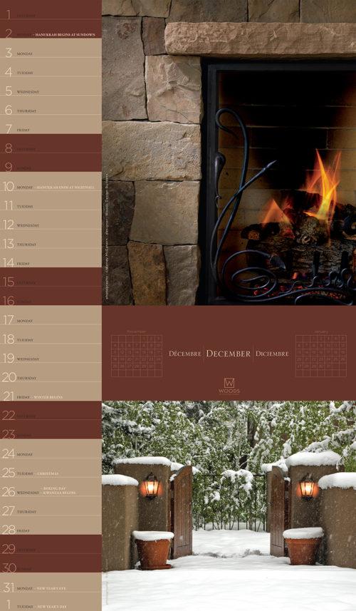 Woods calendar December