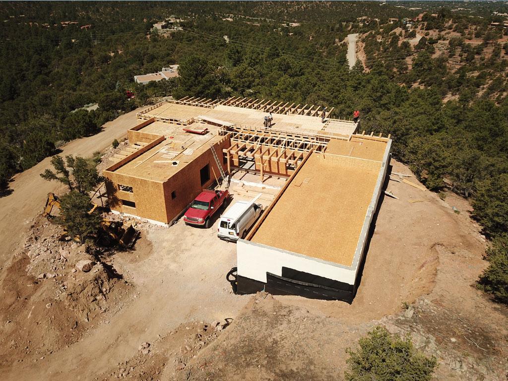 Atalaya Hills custom home construction Santa Fe