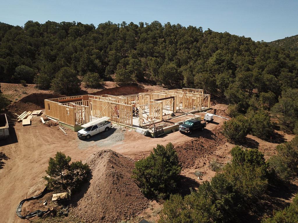 Camino Cruz Blanca custom home construction Santa Fe